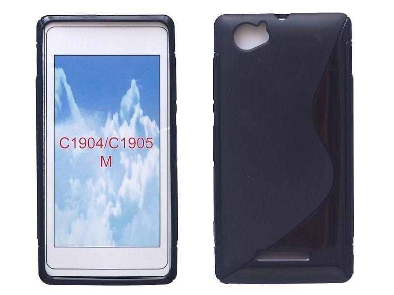 S-line szilikon hátlap - Sony Xperia M   C1905 - fekete - Ozimobil ... 963355c05f