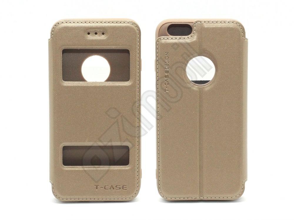 Puloka T-Case Flip tok - Iphone 6   6S - arany - Ozimobil Webáruház d4bdd2b56e