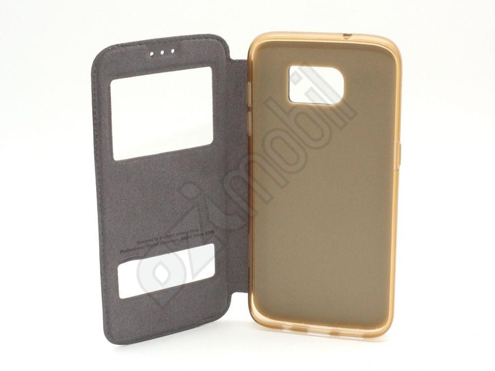 new product fc042 ec7be T-Case / Puloka flip tok - Samsung Galaxy S7 Edge / G935F - arany
