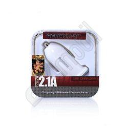 UGY autós USB töltő fej - Remax RCC-101 (1xUSB - 2.1A) - fehér