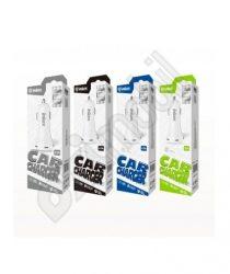 Inkax autós töltő szett CC-12 (dupla USB 2,1 A) - 2 in 1 -Type-C