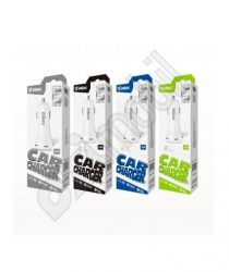 Inkax autós töltő szett CD-12 (dupla USB 2,1 A) - 2 in 1 -Iphone 5/SE/6/7/8/X/XR/Xs MAX/11/11 Pro/11 Pro Max