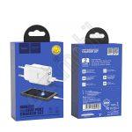 Hoco Wall - Victoria C62A Dual USB - Type-C hálózati töltő szett - 2,1A - fehér