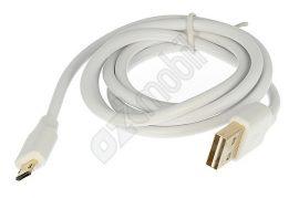 EX adatkábel - Micro USB 1 méter - fehér