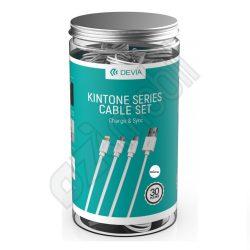 Devia Kintone kábel - micro USB töltőkábel  - fehér (csomagolás nélkül)