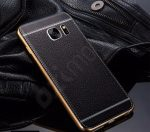 Samsung Galaxy S6 Edge / G925F bőr hátlap - fekete