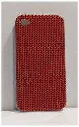 Szilikon hátlap iPhone 4G / 4s - narancs / fekete pöttyös