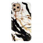 Márvány szilikon hátlap - iPhone 7 / 8 / SE2 - Design3 fekete